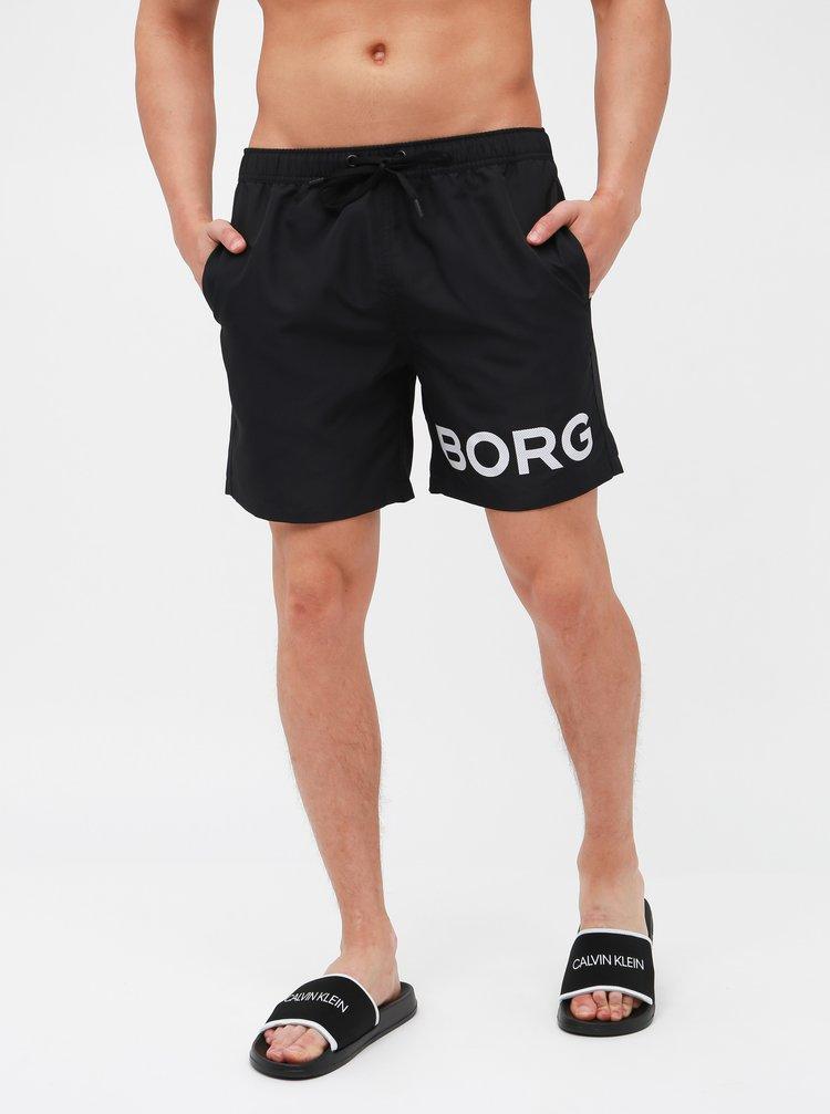 Černé plavky s potiskem Björn Borg Sheldon