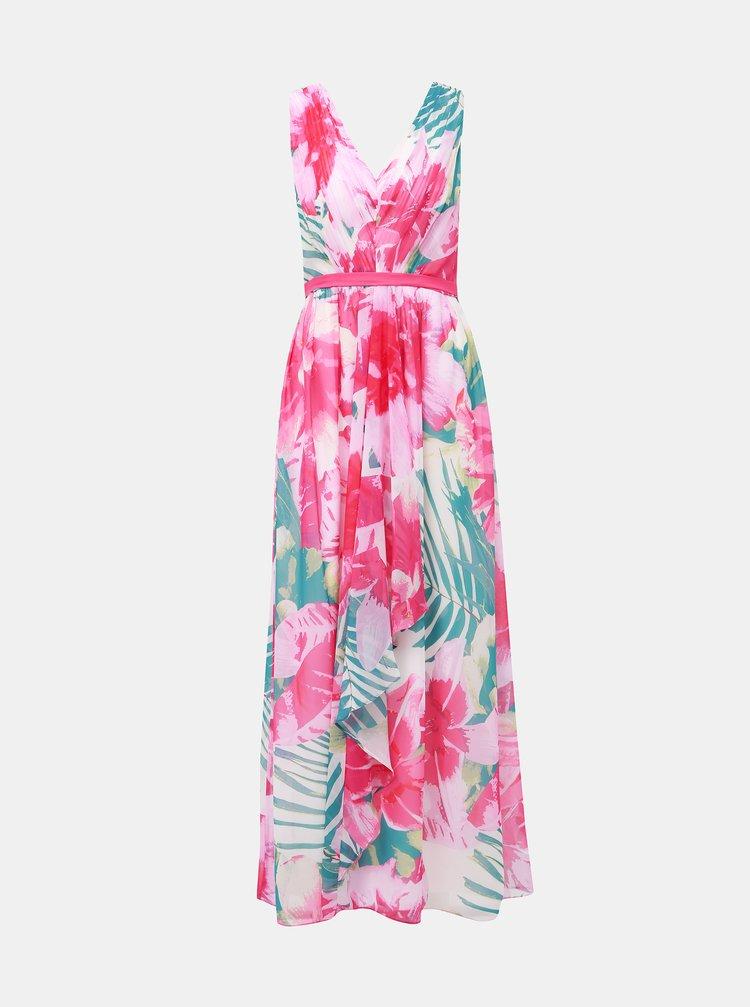 Rúžové kvetované maxi šaty Dorothy Perkins