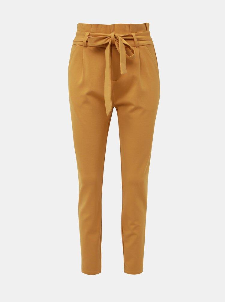 Hořčicové kalhoty VERO MODA Eva
