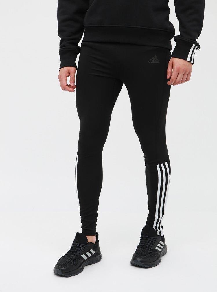Čierne pánske funkčné legíny adidas Performance