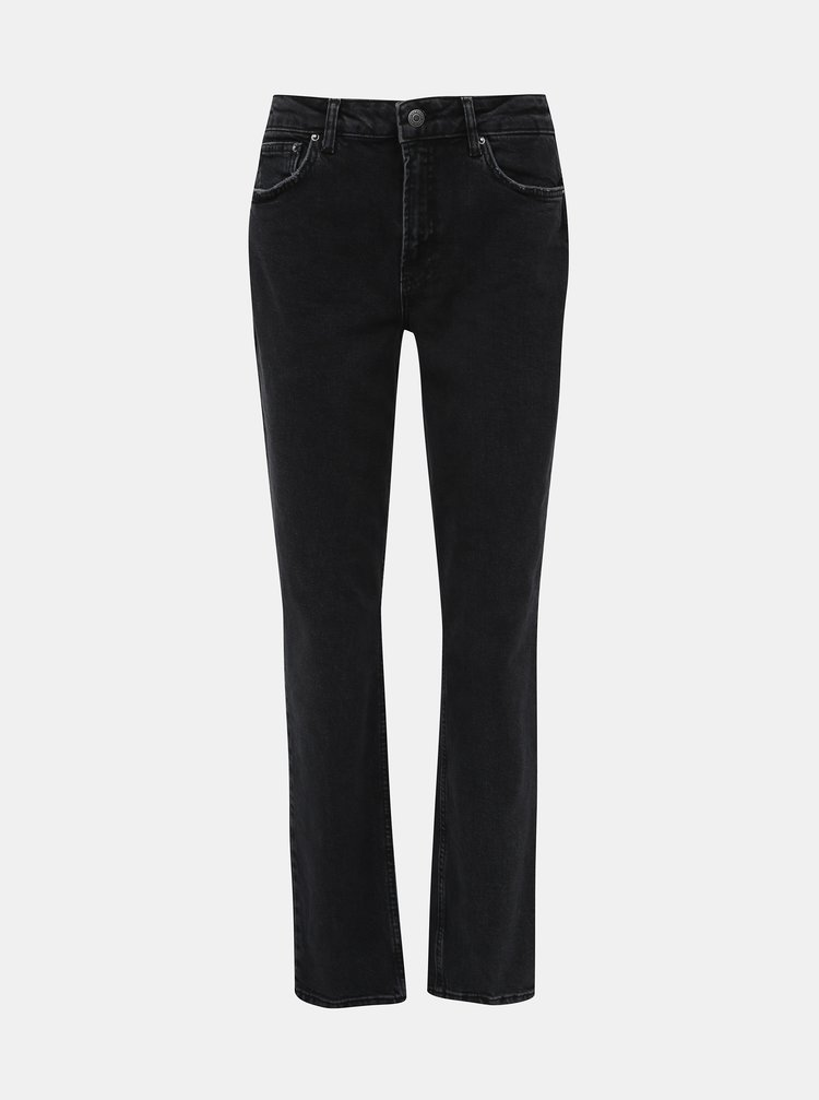 Černé straight fit džíny VERO MODA Sara