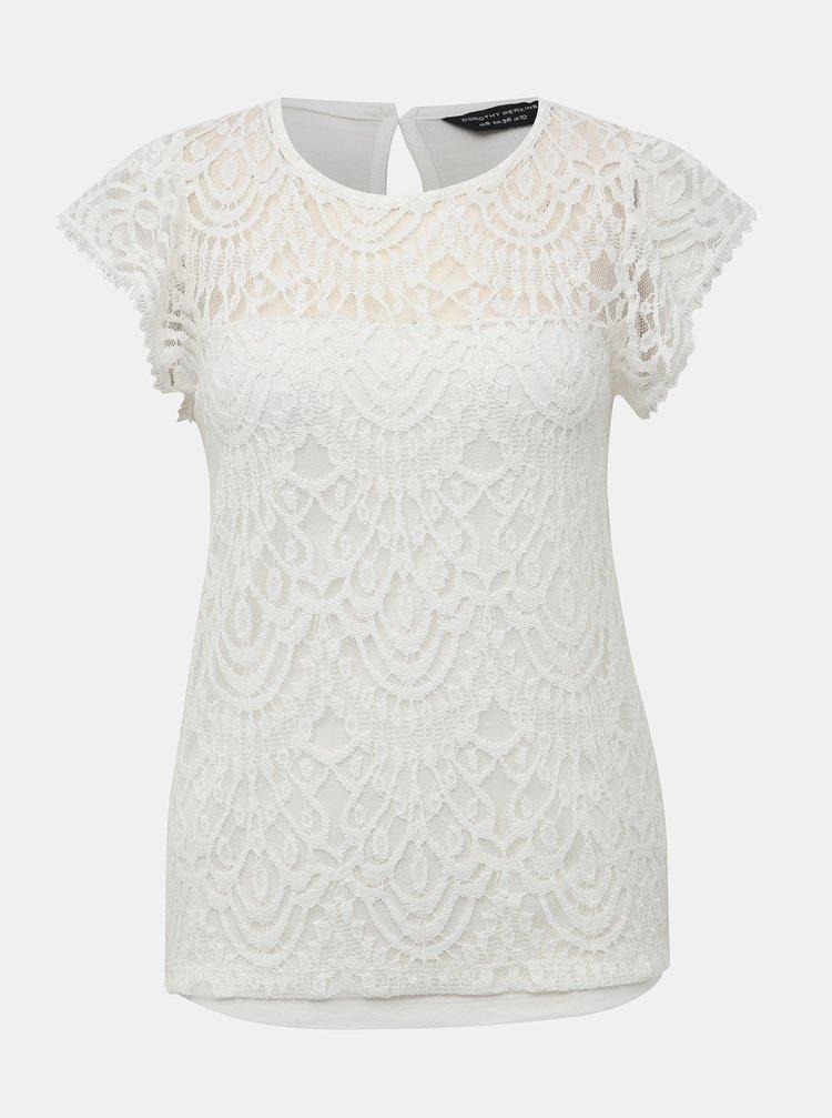 Biely krajkový top Dorothy Perkins