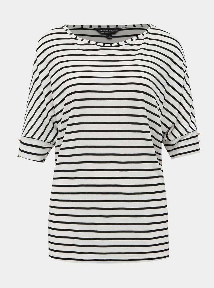 Černo-bílé pruhované tričko Dorothy Perkins