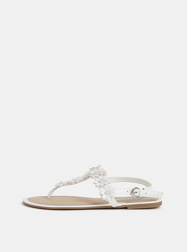 Biele dámske sandále Haily´s Flora
