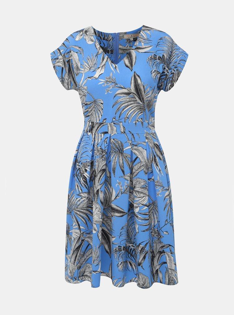 Modré květované šaty Billie & Blossom