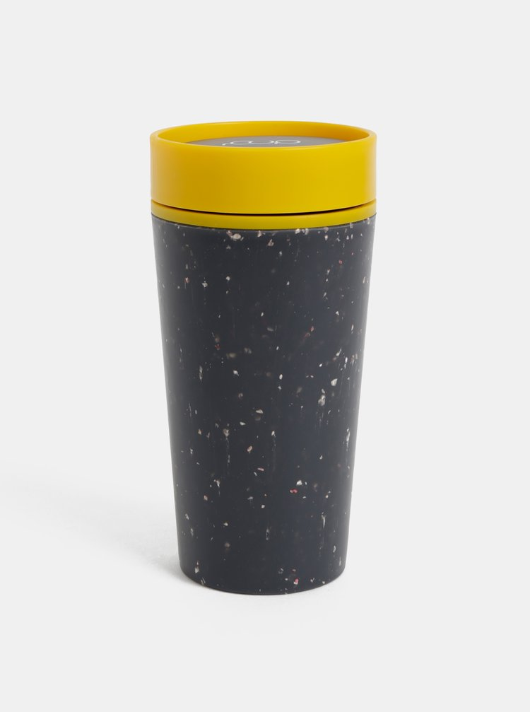 Žluto-černý cestovní hrnek rCUP 340 ml