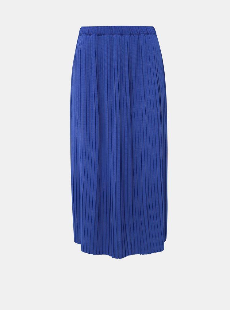 Modrá plisovaná midi sukně ONLY Faith