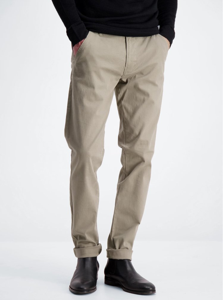 Pantaloni chino pentru barbati Lindbergh - bej