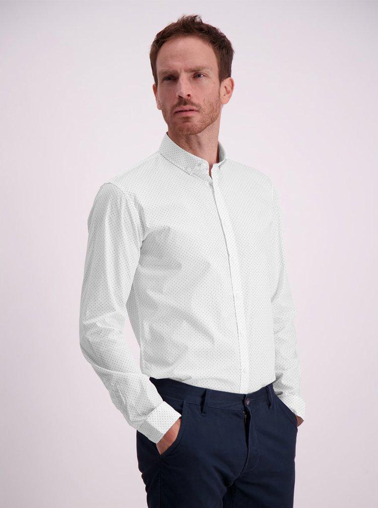 Biela bodkovaná košeľa Lindbergh