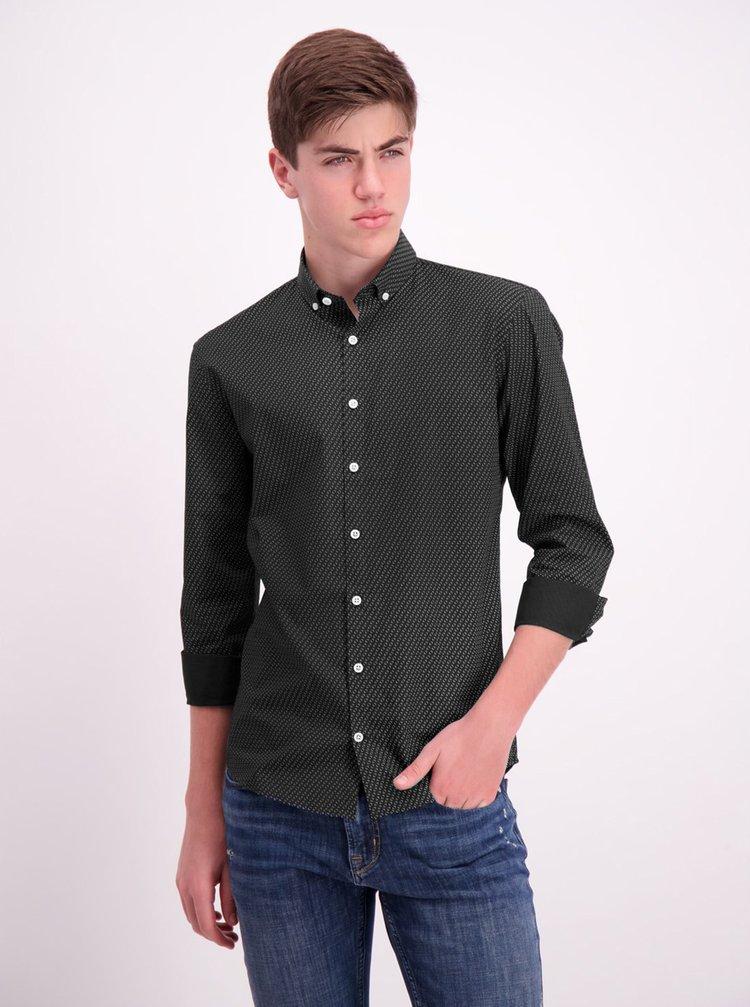 Černá vzorovaná košile Lindbergh
