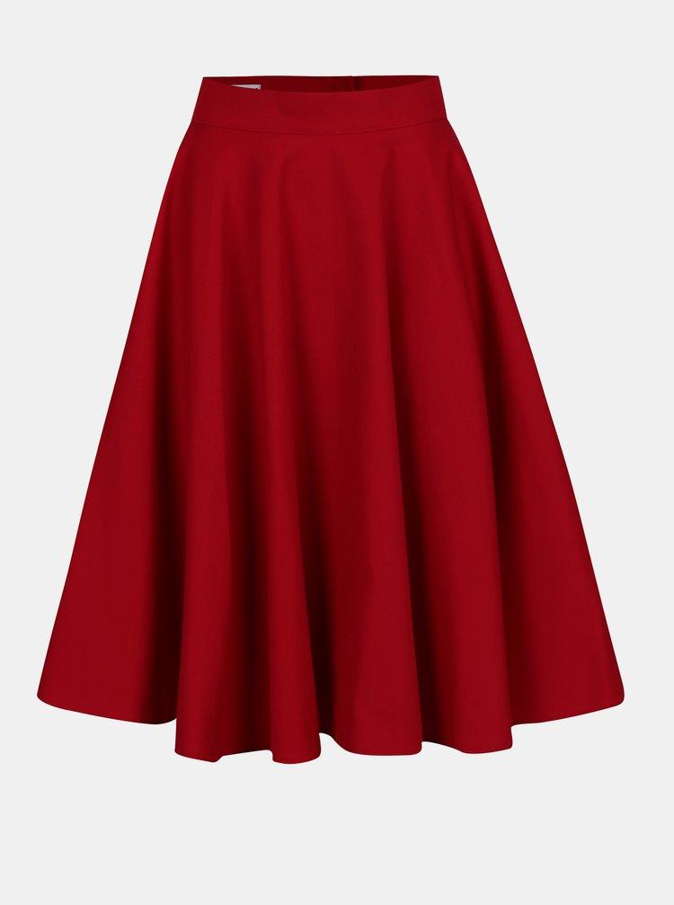Červená kolová sukně MONLEMON Lantern