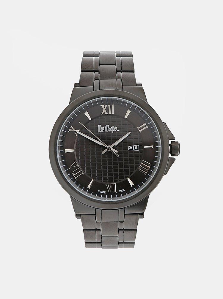 Pánské hodinky s černým kovovým páskem Lee Cooper