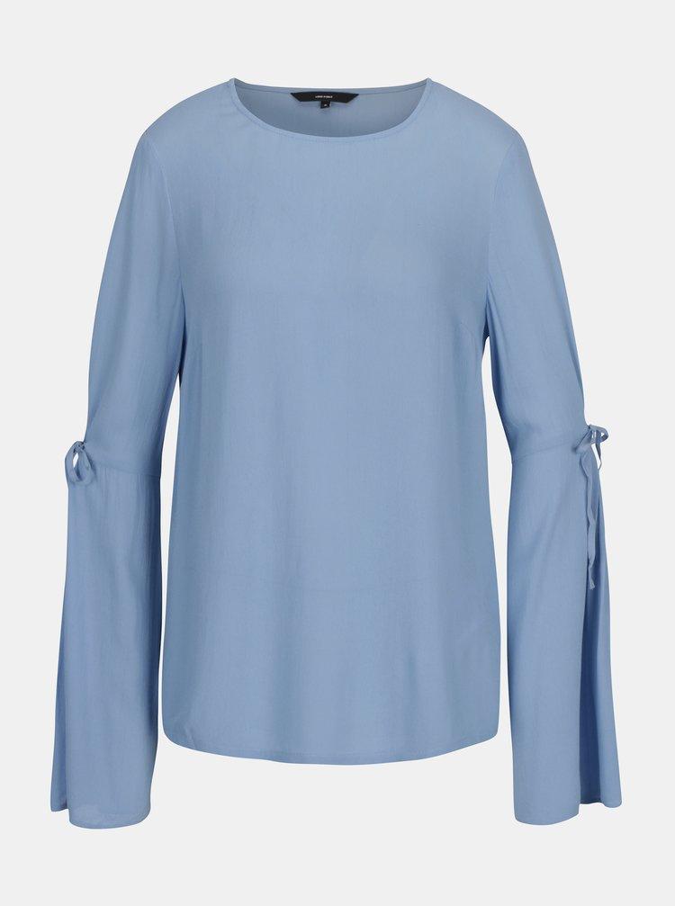 Bluza bleu cu maneci clopot cu decupaj VERO MODA Ella