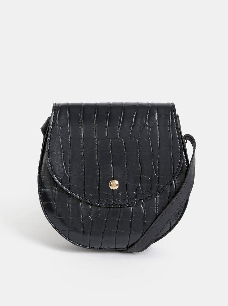 Černá crossbody kabelka s krokodýlím vzorem Haily´s Coco
