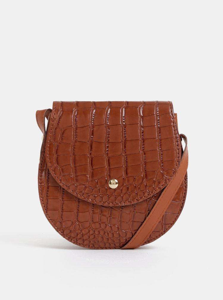 Hnědá crossbody kabelka s krokodýlím vzorem Haily´s Coco
