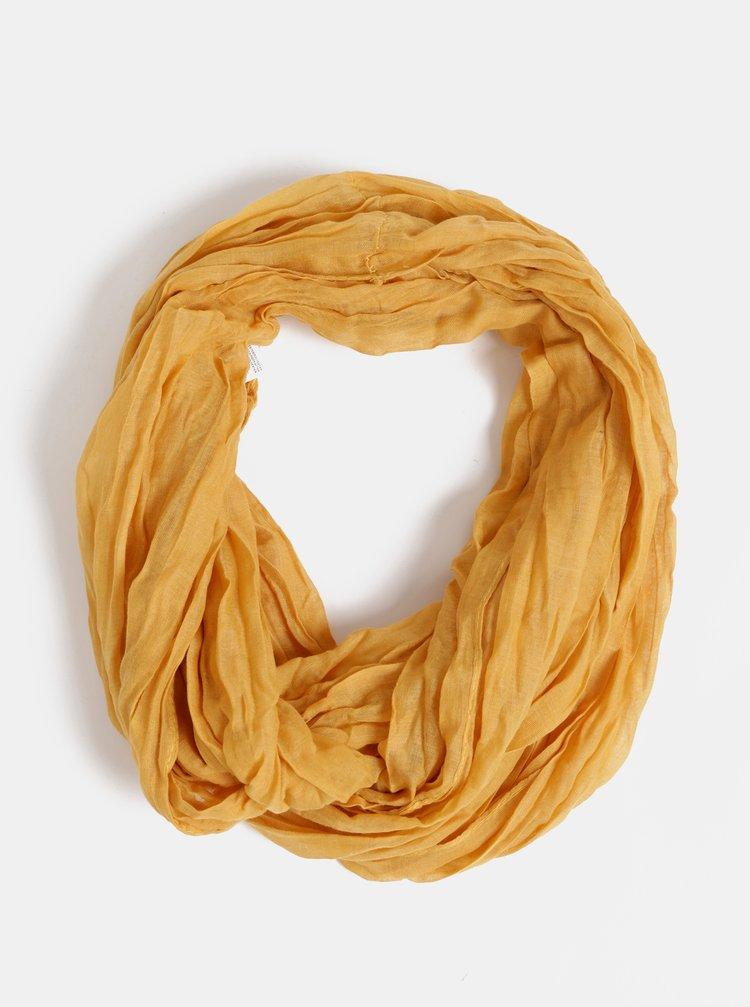 Hořčicový dámský šátek Haily´s Uni