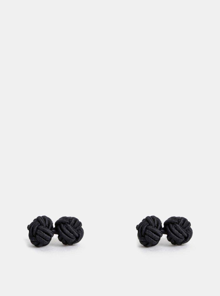 Černé manžetové knoflíčky Avantgard