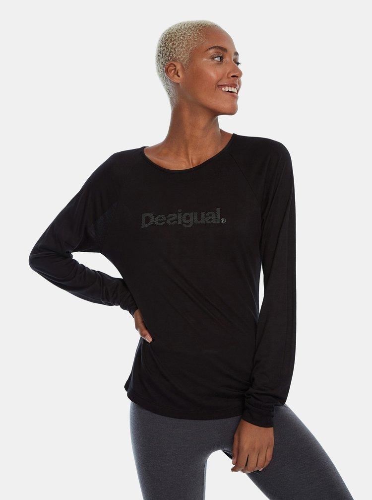 Černé tričko Desigual Essential