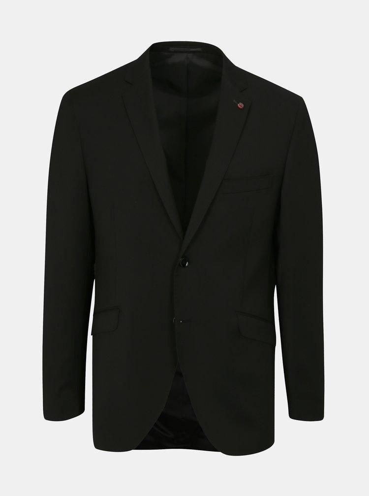 Čierne oblekové vlnené sako Good Son
