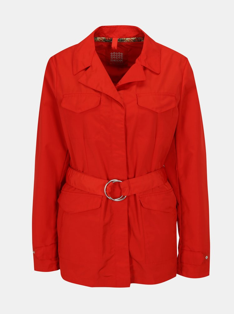Jacheta rosie cu cordon pentru femei Geox