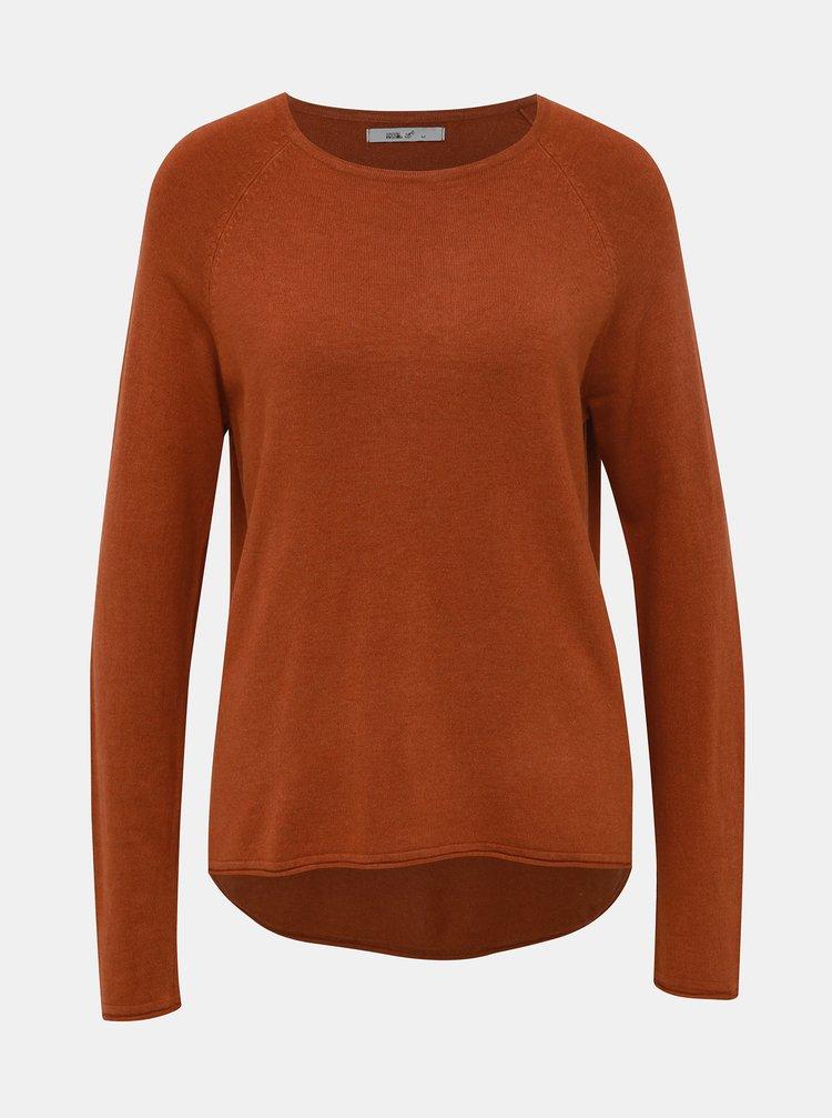 Cihlový dámský basic svetr Haily´s Marin