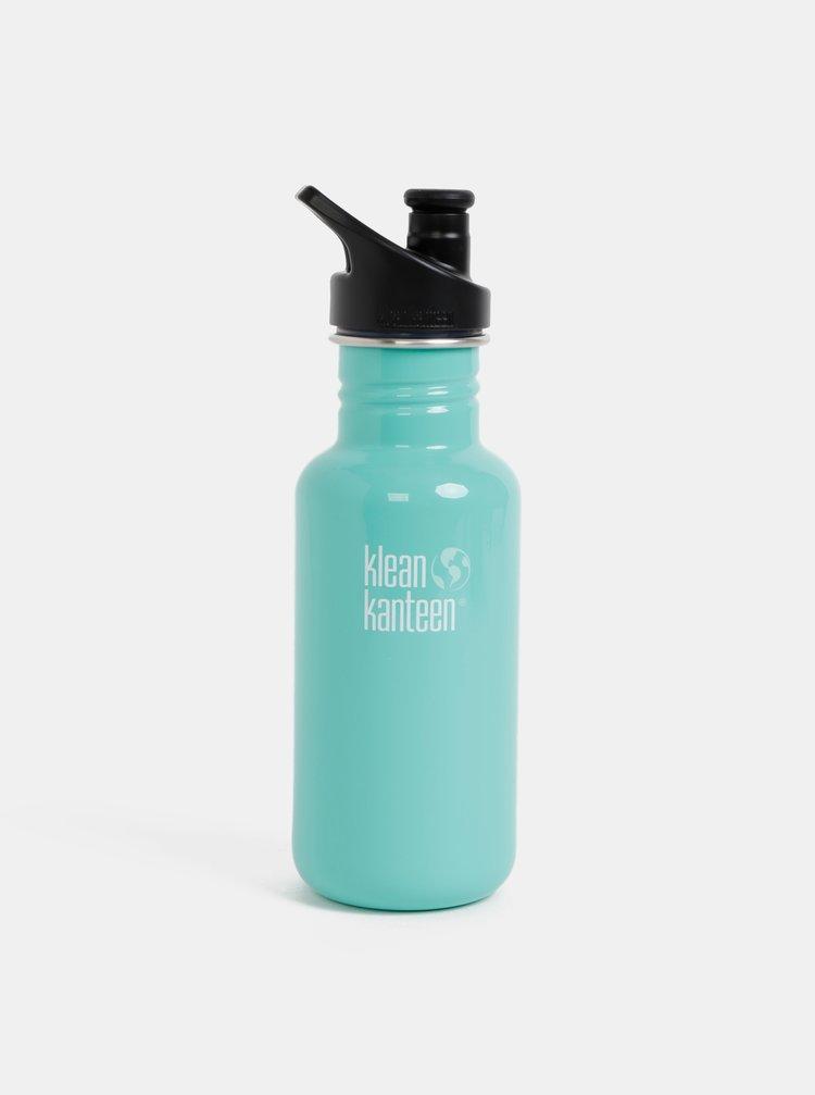Tyrkysová nerezová láhev Klean Kanteen 532 ml