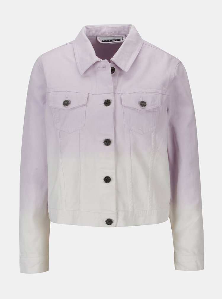 Jacheta cropped violet&alb din denim - Noisy May Mino