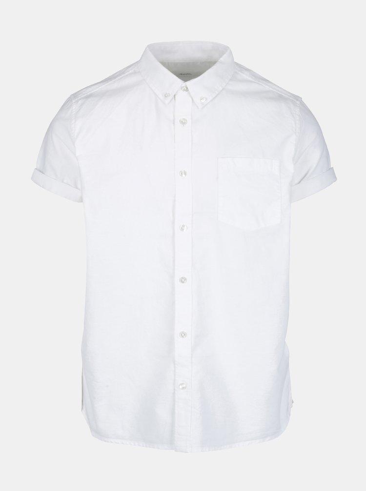 Camasa alba cu maneca scurta si guler buttons down - Burton Menswear London
