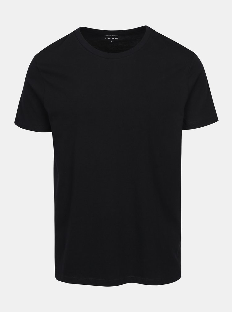Čierne regular fit basic tričko Burton Menswear London
