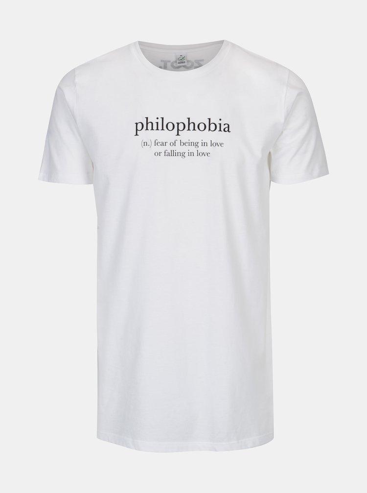 Tricou alb cu print pentru femei - Original Philophobia