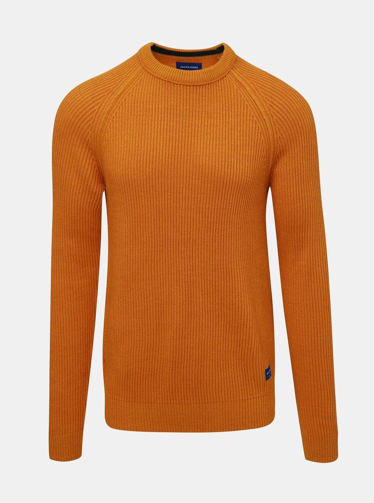 Oranžový sveter Jack & Jones Pannel