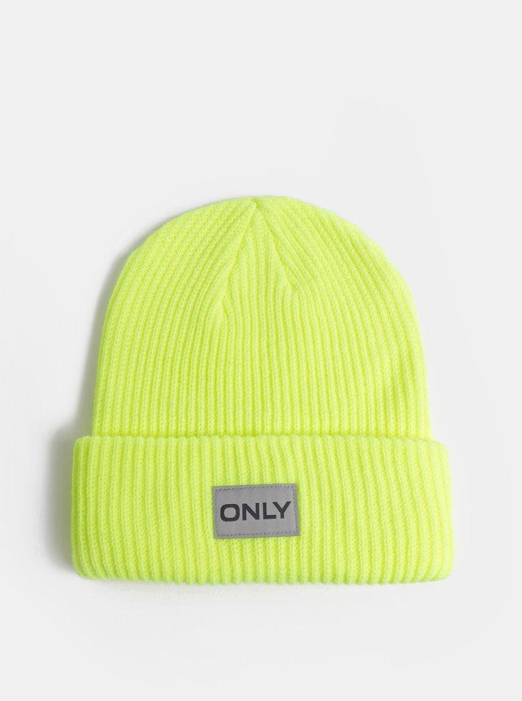 Neonově žlutá čepice ONLY Petunia
