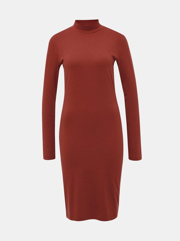 Hnedé basic šaty Jacqueline de Yong Yava