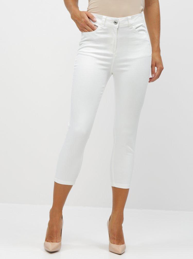 Bílé dámské 3/4 slim fit džíny M&Co