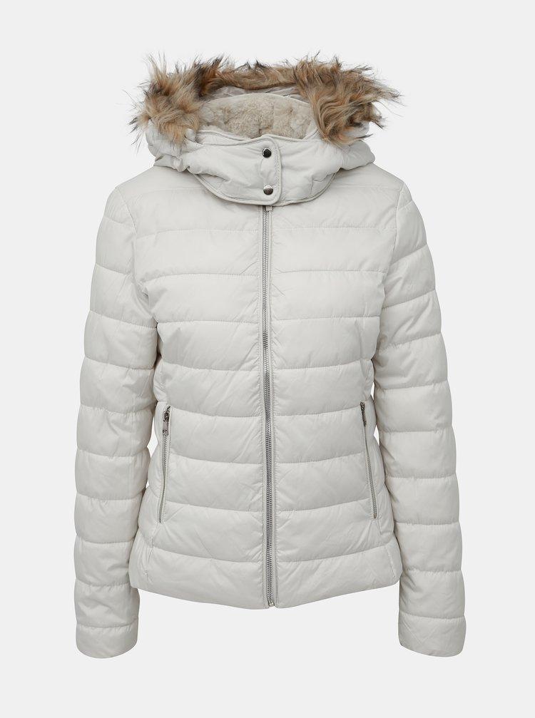 Krémová dámska zimná bunda Alcott