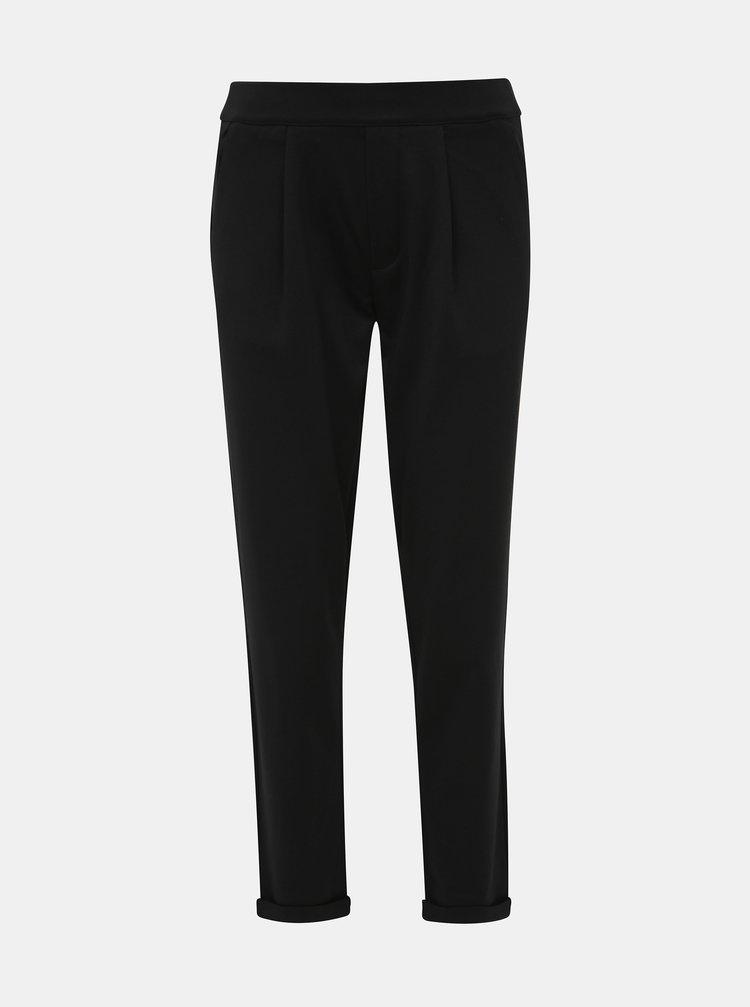 Černé zkrácené kalhoty Jacqueline de Yong Darling