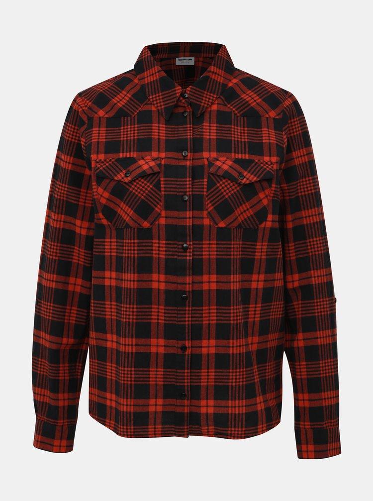 Čierno-červená kockovaná košeľa Noisy May Erik
