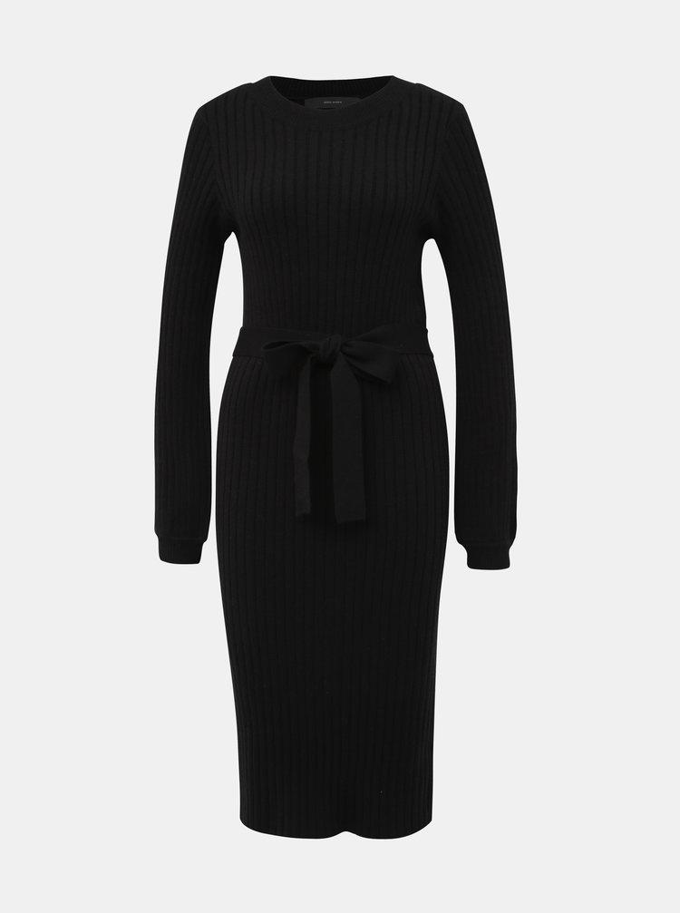 Čierne svetrové šaty VERO MODA Svea