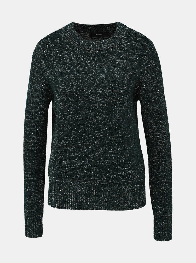 Tmavě zelený vzorovaný svetr VERO MODA Akua
