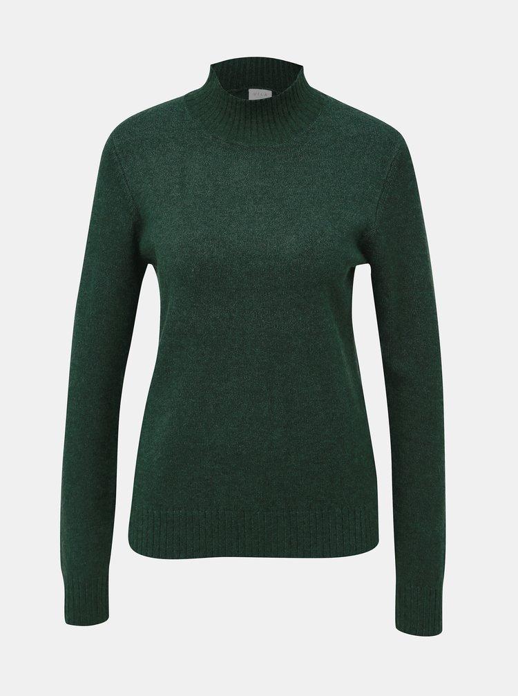 Tmavozelený basic sveter VILA Viril