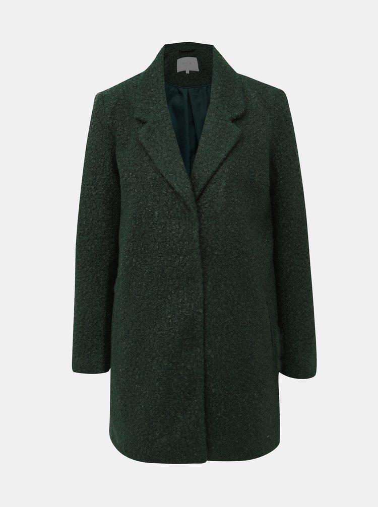 Tmavozelený kabát VILA Jessi