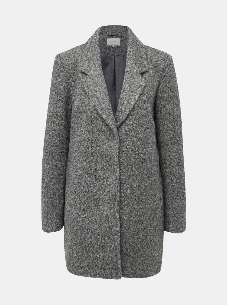 Šedý kabát VILA Jessi