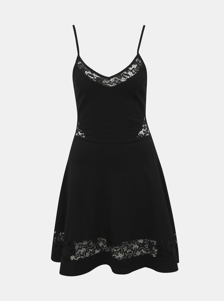 Čierne šaty s krajkou TALLY WEiJL