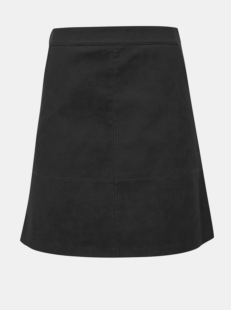 Tmavě šedá koženková minisukně ONLY Lisa