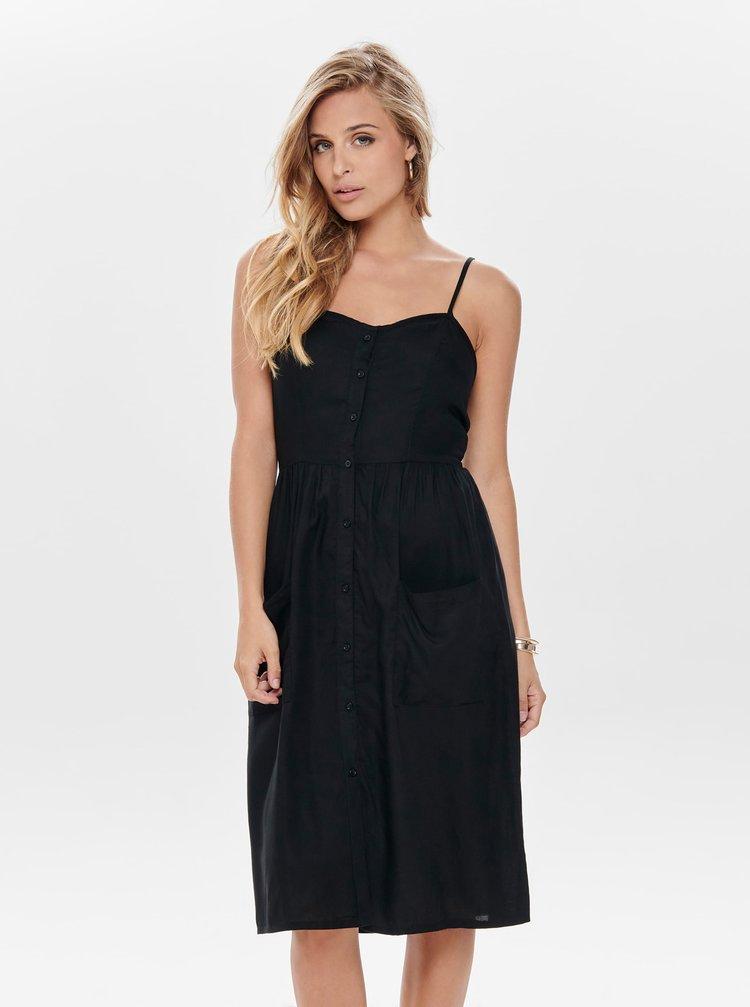 Černé šaty s knoflíky Jacqueline de Yong Kitti