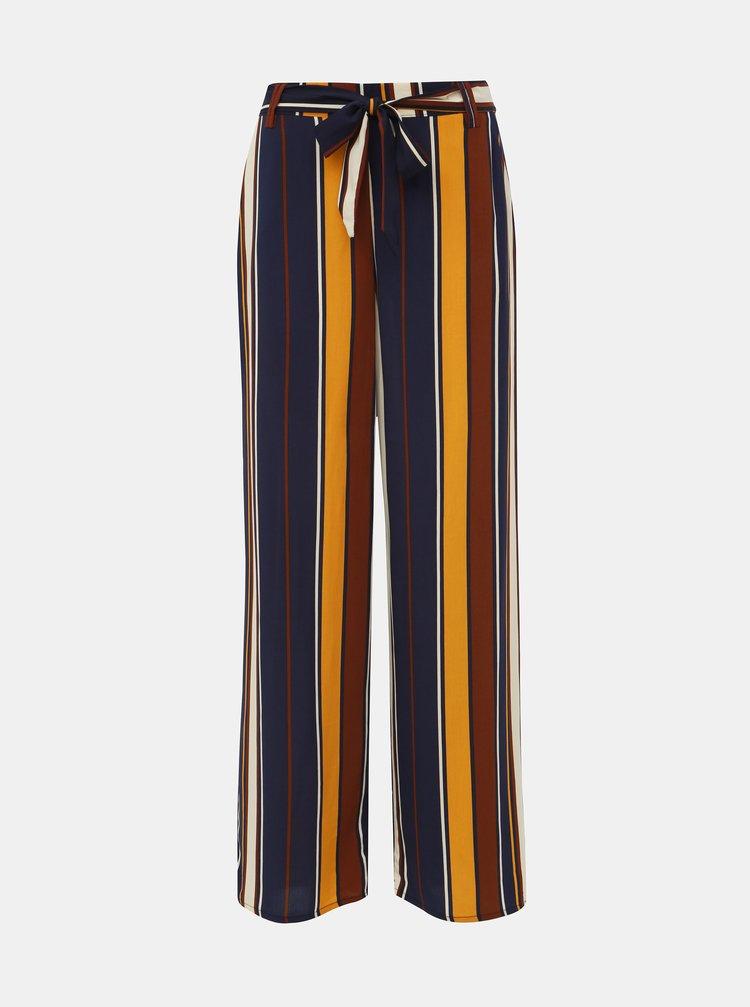 Tmavě modré pruhované kalhoty ONLY Nova