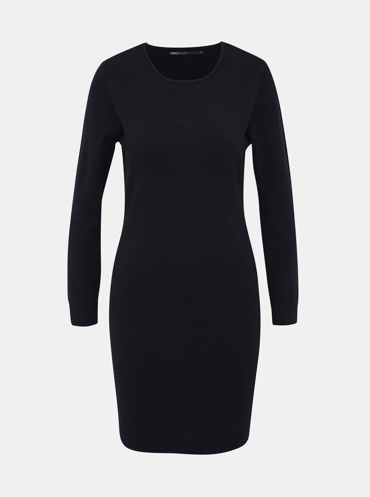 Tmavě modré svetrové šaty ONLY Brenda