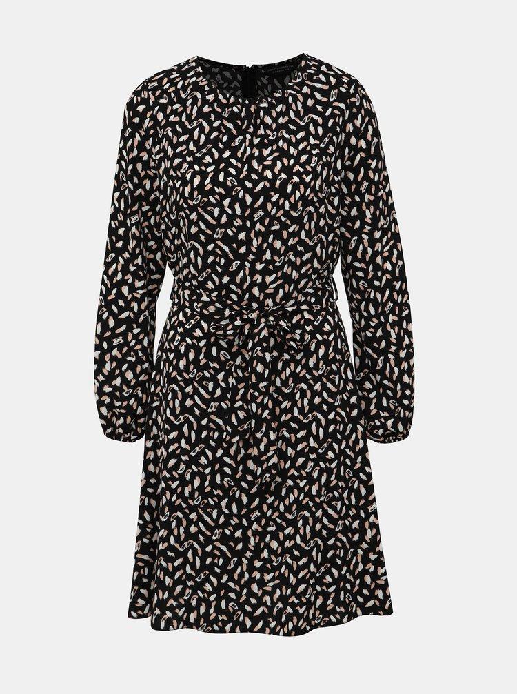 Černé vzorované šaty Dorothy Perkins