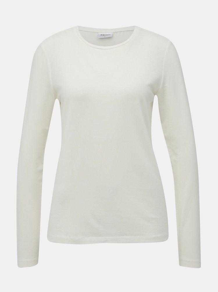 Bílé basic tričko AWARE by VERO MODA Mava