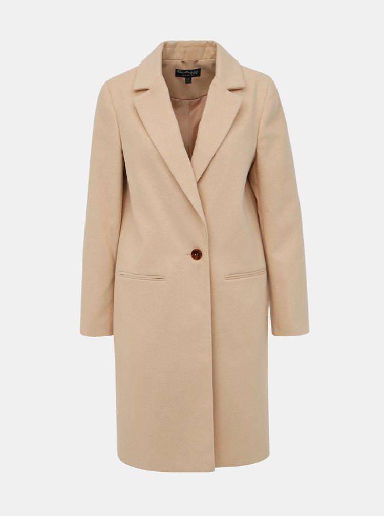Béžový kabát Miss Selfridge